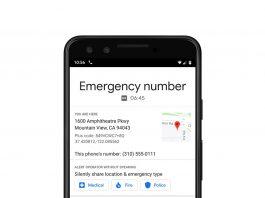layanan darurat android google