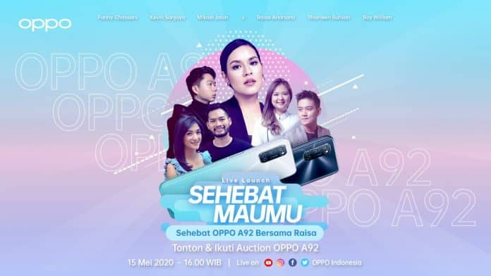 live launch oppo a92