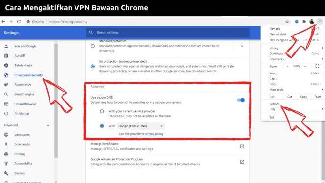 Cara Mengaktifkan VPN Bawaan Chrome