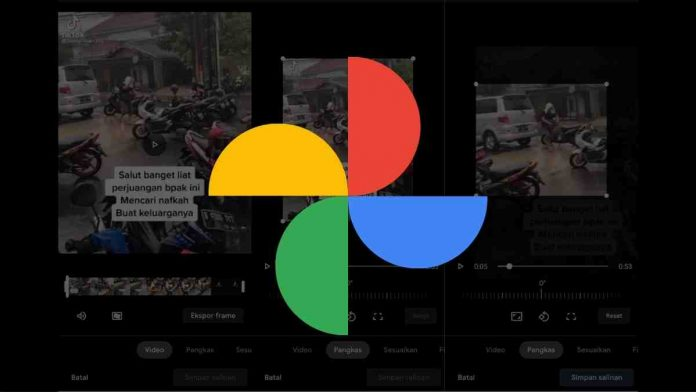 crop video dengan google photos